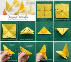 ¿Te gusta la papiroflexia? En esta foto te enseñamos dos formas de hacer mariposas.