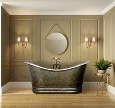 1670 mm x 810 mm Freestanding Standard Double Ended Bathtub GMLK Double Bathtub, Deep Bathtub, Drop In Bathtub, Bathroom With Shower And Bath, Bathtub Shower, Bathroom Ideas, Soaking Bathtubs, Copper Tub