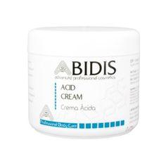 ACID CREAM Crema Ácida  Ayuda a restaurar el manto ácido de la piel equilibrando su pH natural.  Uso Facial: Como máscara equilibrante o haciendo penetrar una pequeña cantidad donde sea necesario.  Uso Corporal: Después de la depilación o de cualquier otro proceso que haya alterado el pH ácido de la piel.