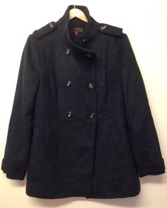 NEW LOOK NAVY & BLACK MILITARY STYLE WINTER COAT SIZE 16 - BEAUTIFUL CONDITION! #NewLook #OtherJackets #Casual