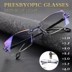 [Buy 1 Get 1 Free] Anti-Blue Ray Progressive Far And Near Dual-Use Reading Glasses Rimless Reading Glasses, Double Usage, Eye Prescription, Cool Gadgets To Buy, Amazing Gadgets, Spy Gadgets, Cool Inventions, Glasses Case, Traditional Art
