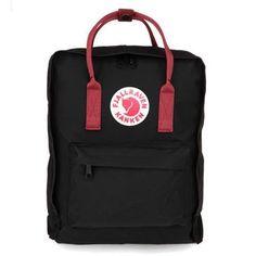 FJALLRAVEN KANKEN Classic Black & Ox Red Backpack Bag