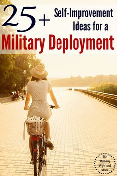 Over 16 military spouses share their best military deployment self-improvement ideas! These tips got me through my last military deployment!