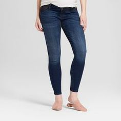 Maternity Inset Panel Skinny Jeans - Isabel Maternity By Ingrid & Isabel™ Dark Wash : Target Maternity Skinny Jeans, Stretch Denim, Target, Dark, Pants, Fashion, Trouser Pants, Moda, Fashion Styles