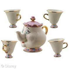 """All I want for christmas is a limited edition Beauty and the Beast """"Mrs Potts"""" tea set !! Is that so much to ask ?!"""