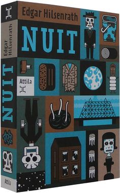 Edgar Hilsenrath. Nuit  Editions Attila, Paris, published the 3rd book of Edgar Hilsenrath with Henning Wagenbreth cover design.