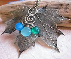 Sylvan Leaves by Sihaya Designs -- Real Maple Leaf in Antique Silver