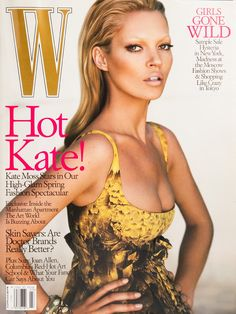 Kate Moss on the cover of W Magazine March 2005