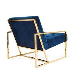 Blue & Gold - Goldfinger Chair