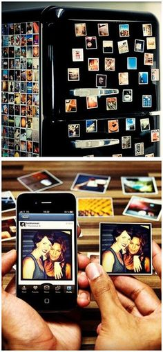 Turns Instagram Images into Magnets. A Nice Idea to Stick Your Memories Around! #neat
