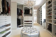 Everyone should have a chandelier in their closet...you know, at least once, just to say you tried it. :)