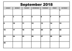 Here you will get 2018 September Calendar Printable Templates With Holidays, Blank Calendar for your personal & office use at free of cost from our website. September Calendar 2018, Blank Monthly Calendar Template, Free Printable Calendar Templates, 2018 Printable Calendar, Print Calendar, 2019 Calendar, February, Monthly Calendars, Online Calendar