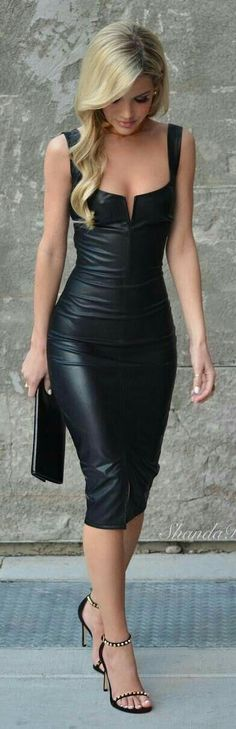 5aa88205 Womens Ladies Dress Pvc Wet Look Faux Leather Bodycon Celeb Shiny Black