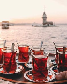 What's the perfect day in Istanbul? Tea, sunset, and a beautiful view.⠀ ⠀ :photo.bookk/IG