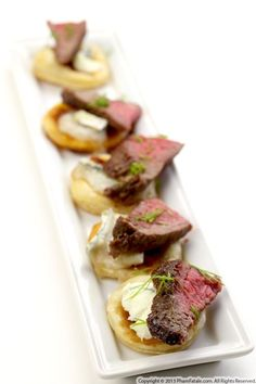 Filet Mignon Appetizers with Tomato Chutney Recipe
