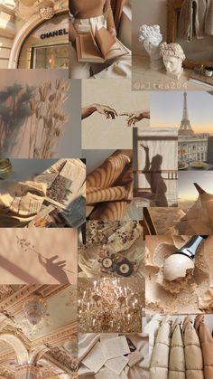 Iphone Wallpaper Themes, Iphone Wallpaper Tumblr Aesthetic, Cute Patterns Wallpaper, Aesthetic Pastel Wallpaper, Wallpaper Backgrounds, Aesthetic Wallpapers, Brown Aesthetic, Aesthetic Collage, Beige Wallpaper