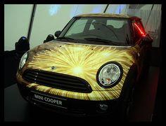 Mini Cooper with Cool Fireworks My Dream Car, Dream Cars, Mini Driver, Morris Minor, Mini One, Smart Car, Mini Cooper S, Mini Things, Love Car