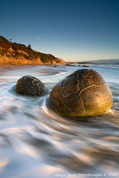 Golden Orbs - Moeraki, South Island, New Zealand by Winnie Ho