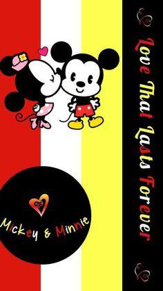 Image via We Heart It https://weheartit.com/entry/158450203 #wallpaper #fondo #mickey&minnie