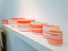 Shadow Colour Series 2103 in porcelain, by In Hwa Lee, showing with Gallery LVS