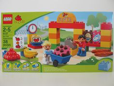 LEGO duplo Model #6137 My First Supermarket 38 Piece Set. Ages 2 - 5 years. I want you to be confident in the decision you are making. GREAT Preschool Building toy! Helps your child learn many things while having fun playing! | eBay!
