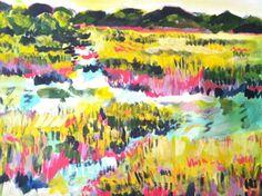 11 x 14 Sea Island Marsh Acrylic Painting
