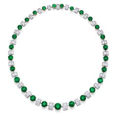 Emerald and diamond eternity necklace ❤ liked on Polyvore featuring jewelry, necklaces, emerald jewellery, emerald necklace, diamond necklace, diamond jewelry and emerald diamond necklace