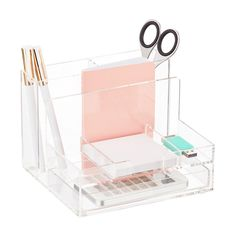 Small Acrylic Desktop Organizer | The Container Store