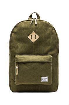 Shop for Herschel Supply Co. Canvas Collection Heritage Backpack in Washed  Army at REVOLVE. e59833716326c