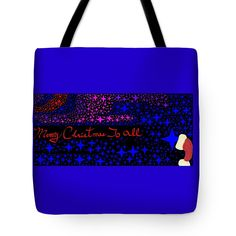 Tote Bag of 'Merry Christmas To All 7' by Sumi e Master Linda Velasquez.
