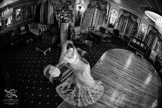 Turkish wedding photographer | London Wedding Photographers | Wedding photography by Peter Lane - wide angle bridal shot