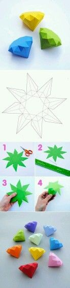 How to make a carton diamond