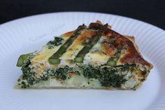 Sabrina's Køkken: Sommer tærte med spinat og asparges