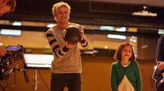 Niall recently Bowling with kids fighting cancer for Cancer Research UK