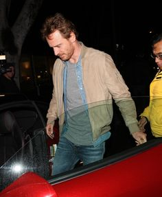 Michael Fassbender at the Italian restaurant Madeo in West Hollywood (Los Angeles) on February 7th, 2017