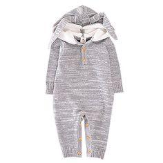 e427f893e293 Amazon.com  Bigface Up Unisex Baby Long Sleeve One Piece Animal Hooded  Romper Sweaters Coat  Clothing