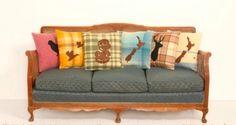 get on my sofa vintage lovelies! Vintage Cushions, Vintage Sofa, Craft Stalls, Kiwiana, Lake Cottage, Soft Furnishings, Ideal Home, Diy Home Decor, Living Spaces