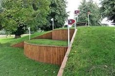 Good look at some cross country fences