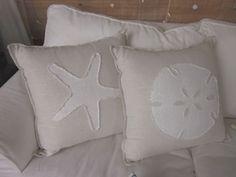 Beach Pillows White Sand Series