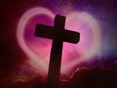 Cross Design Christian Background Heart | Worship Backgrounds