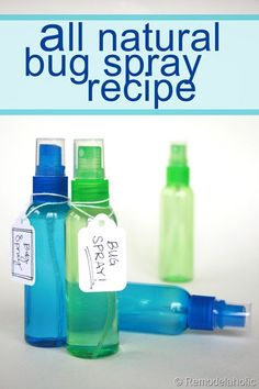 All Natural Bug Spray Recipe! Easy and no chemicals.