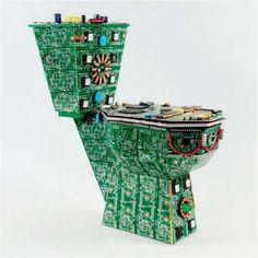 Wonkazoide: Peças de computador viraram esculturas