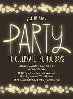 Secret Santa party invite More