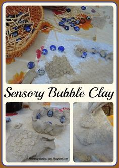Sensory Bubble Clay ...a lovely experience for all ages using recycled and natural materials...Mummy Musings and Mayhem