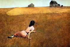 Andrew Newell Wyeth - Christina's World Perhaps because it has been misunderstood as a depiction of teenage angst, for decades Christina's World was a dorm room poster staple. The woman actually depicted in the painting is Christina Olson, a woman who was paralyzed from the waist down as a result of a degenerative disease. Wyeth imbues the scene with emotion -- even for the viewer who is unaware of Olson's plight -- through the taut, yet invisible line stretching between her head and the…