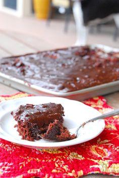 Feed a crowd! Chocolate cherry sheet cake #BabyCenterBlog #SugarMamaCooks