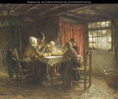 The hot supper - Bernardus Johannes Blommers