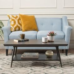 Noble House Canyon Gray Wood and Metal Coffee Table with Shelf 11332 - The Home Depot Coffee Table With Shelf, Coffee Table Styling, Coffee Table Books, Modern Coffee Tables, Coffee Mugs, Home Design, Interior Design, My Living Room, Living Room Furniture