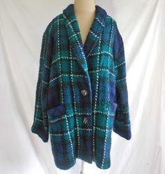 Tartan Plaid Muirfield Coat Jacket Fuzzy Boucle NOS Vintage Scotland P Wool by backtocapri on Etsy https://www.etsy.com/listing/172838114/tartan-plaid-muirfield-coat-jacket-fuzzy
