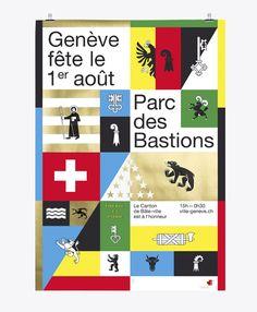 neo neo - graphic design - switzerland - geneva - 1er août - fête nationale…
